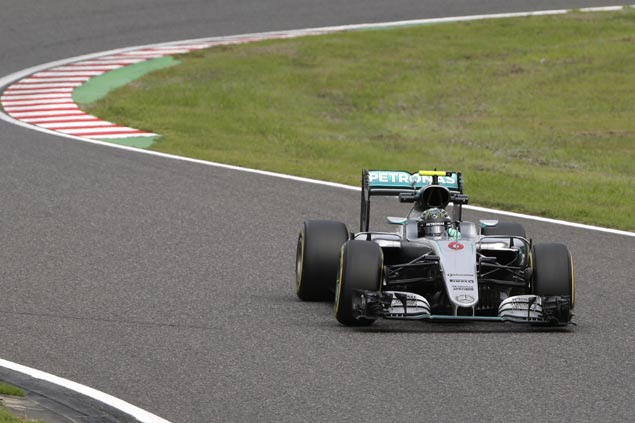 Nico Rosberg edges Lewis Hamilton in posting fastest time in first Japan GP practice