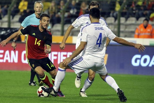 Belgium shows class with victory over Bosnia in World Cup qualifiers