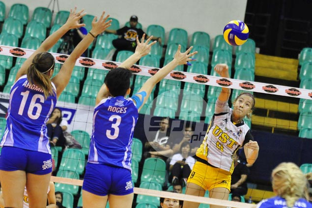 UST fights back from a set down to foil Bali Pure debut and keep V-League slate unblemished