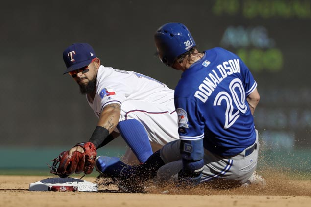 Josh Donaldson dash leads to another walk-off win, ALDS sweep for Blue Jays over Rangers