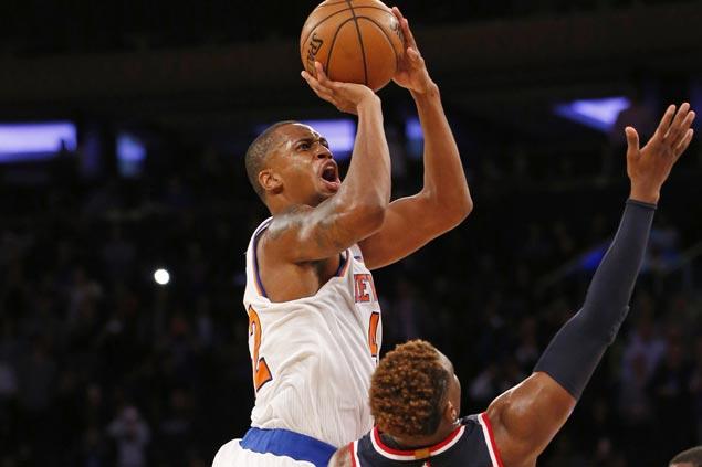 New York Knicks edge Washington Wizards in wild finish to spoil preseason debut of John Wall