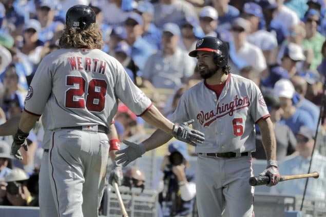 Rendon, Werth hit crucial homers as Nationals pound Dodgers, inch closer to NLCS