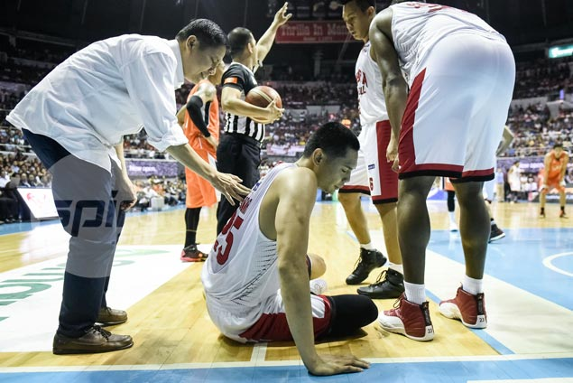 Cone says Japeth Aguilar a 'game-time decision' for Game Five due to ankle sprain