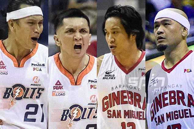 Four players, no one younger than 36, have become unlikely X factors in Ginebra-Meralco finals