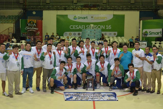 Magis Eagles complete finals sweep to claim fourth straight Cesafi juniors title