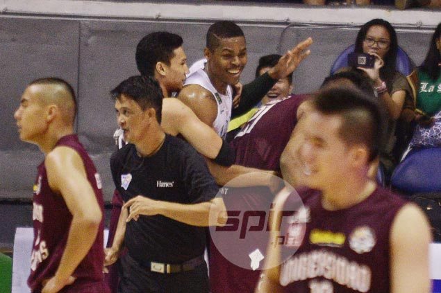 'Big Ben' Mbala shows soft side as he and UP's Andrew Harris 'kiss and make up'