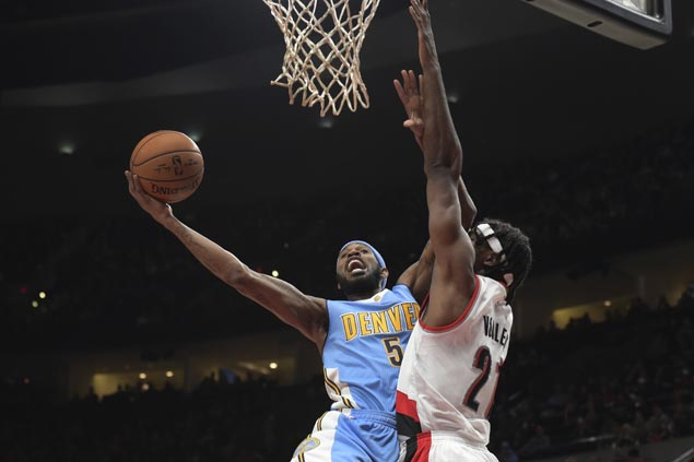 Chandler, Barton power Nuggets to victory over Trail Blazers as Lillard struggles