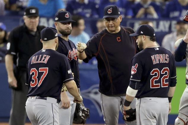 Indians a win away from place in World Series as bullpen stops Jays