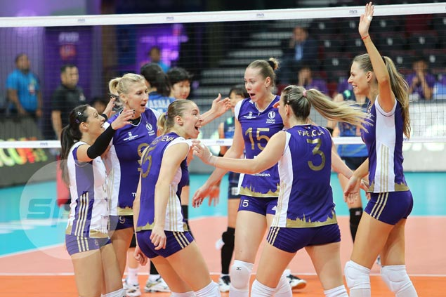 Volero Zurich first to semifinals of FIVB world meet with straght-sets win over Hisamitsu Springs