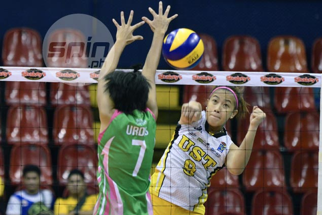 UST Tigresses bounce back, outlast Laoag in five-set thriller to seal semis berth