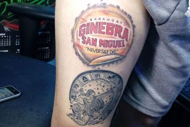 Ginebra championship leaves lasting imprint in the form of tattoo for this die-hard fan