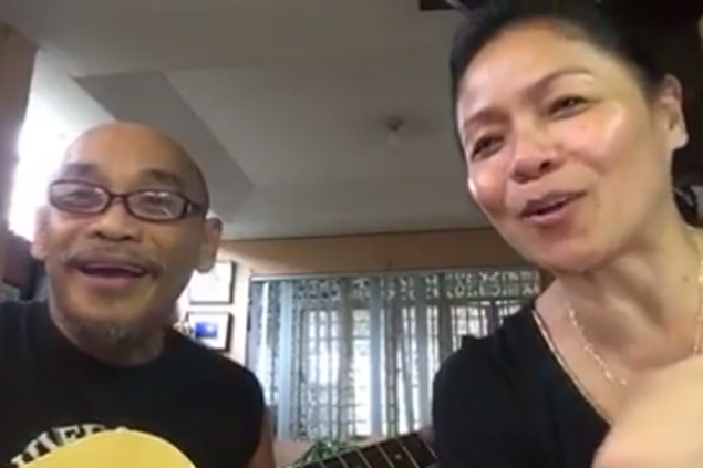 Gary Granada, Bayang Barrios reprise classic Ginebra anthem to celebrate end to dry spell