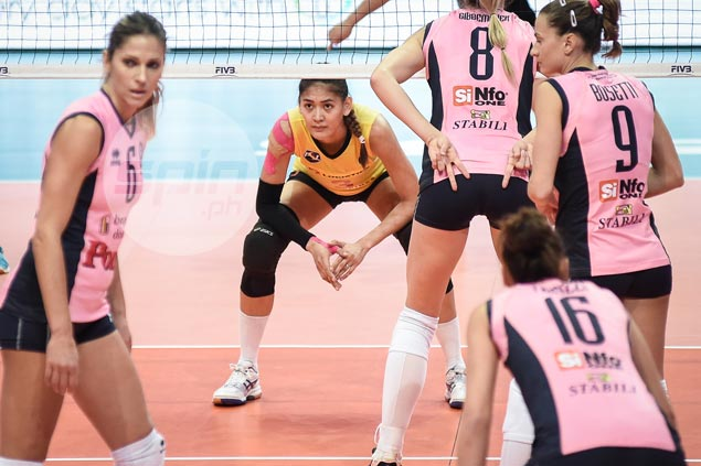 Jaja Santiago proud to hold her own against Europe's best in FIVB World Club showpiece