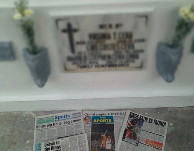 Euphoric fan brings good news about Ginebra title conquest to grandpa's grave
