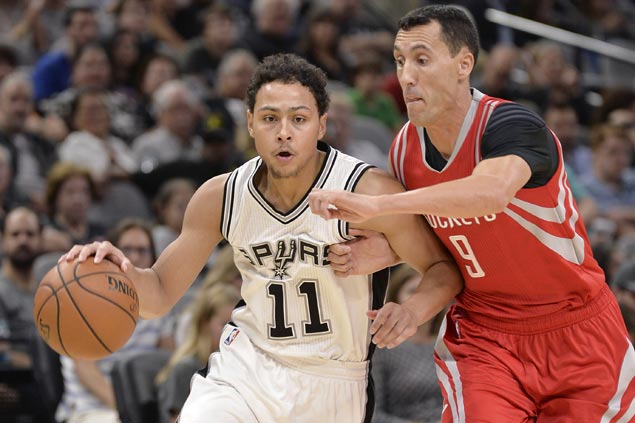 Rookie Bryn Forbes shows way as Spurs shoot down Rockets