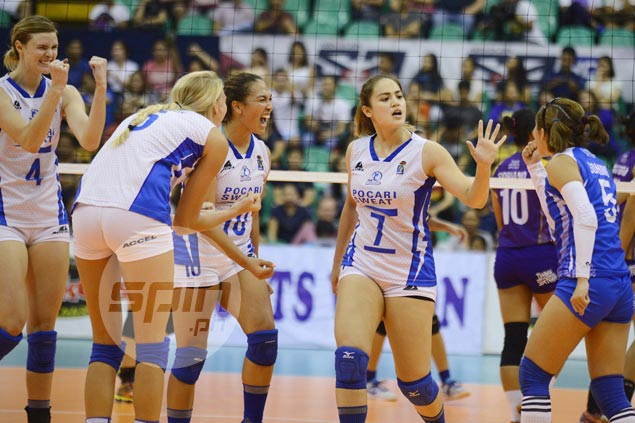 Pocari Sweat stuns Bureau of Customs in straight sets to stretch win streak to three