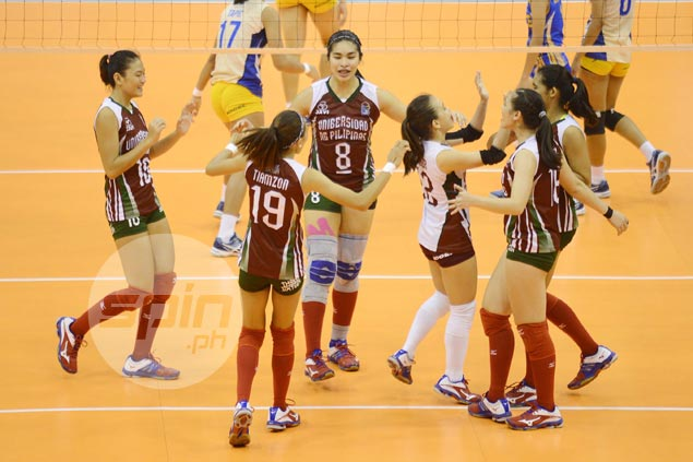 UP Lady Maroons keep semis hopes alive with easy win over Air Force Jet Spikers