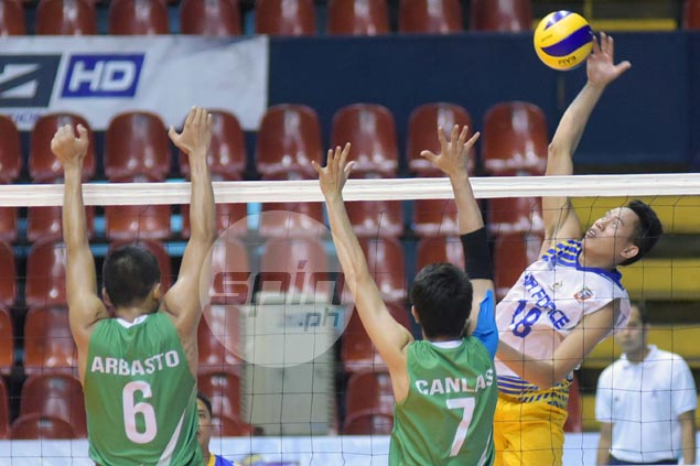 Air Force battles from a set down to beat IEM and keep unbeaten slate in Spikers Turf