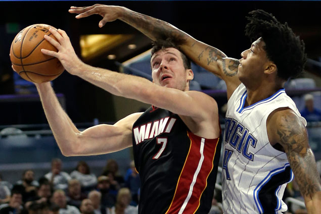 Miami Heat leans on balanced attack to begin post-Wade era with romp over Orlando Magic