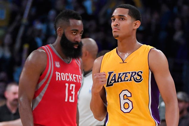 Jordan Clarkson lifts Lakers past Rockets to start post-Kobe Bryant era with a bang