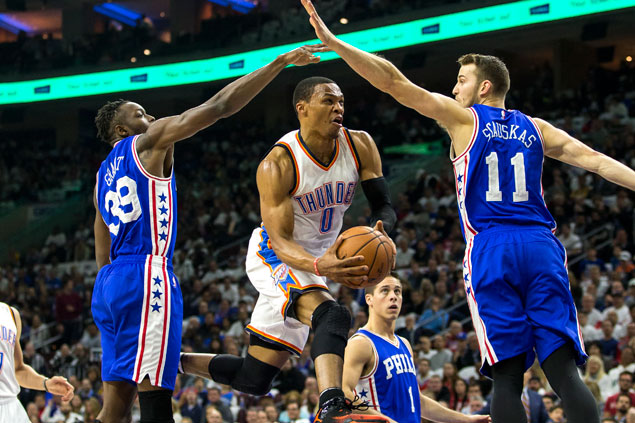 OKC Thunder avoids upset ax, rallies late to turn back Embiid-led Philadelphia Sixers