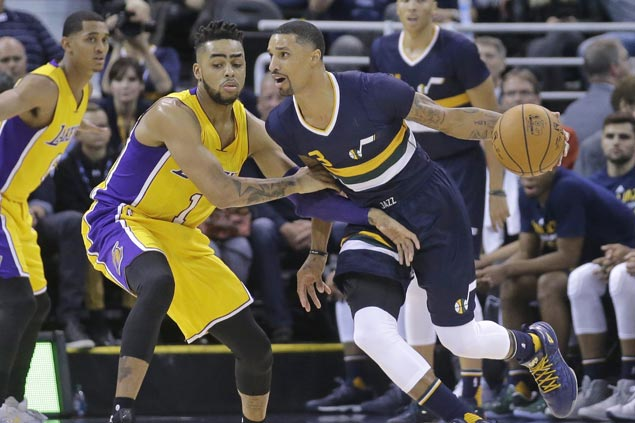 George Hill shines, Derrick Favors solid in return from injury as Jazz down Lakers