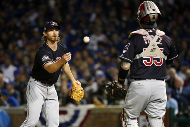 With dad in stands watching from a wheelchair, Josh Tomlin comes through for Indians