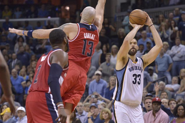 Marc Gasol triples lift Grizzlies to overtime victory over winless Wizards