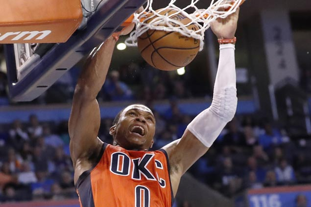 Russell Westbrook triple-double powers Thunder past Lakers for third win in row