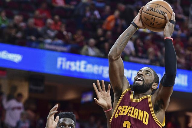 Kyrie Irving, Kevin Love lead way as unbeaten Cavs down Rockets and spoil James Harden's 41-point night