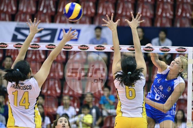 Pocari Sweat turns back UST Tigresses to take top seed in V-League Final Four