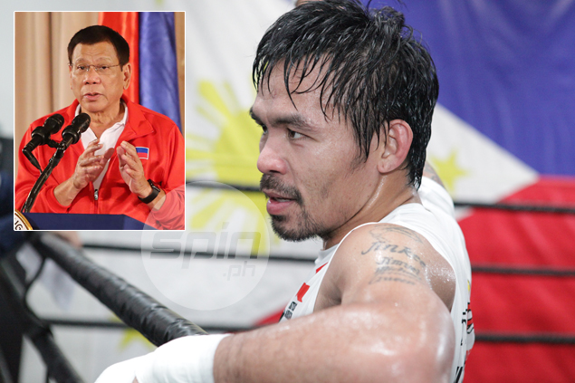 Duterte predicts knockout win for Manny Pacquiao: 'His power is God-given'
