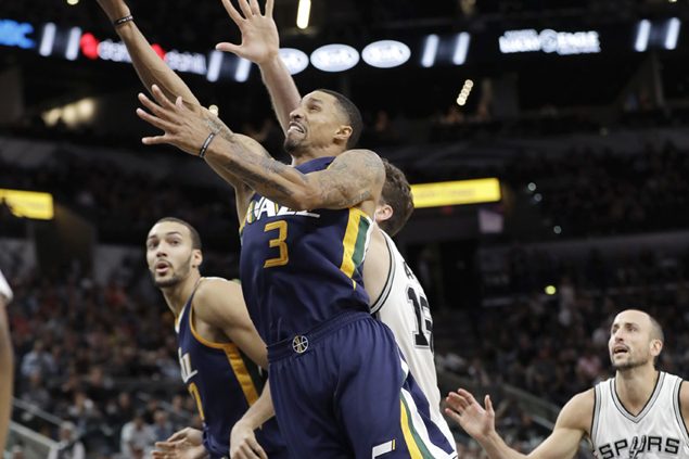Jazz defense shuts down Spurs late to hand San Antonio rare home loss, first defeat of the season