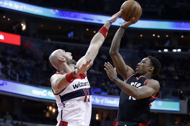 DeMar DeRozan continues torrid scoring stretch, drops 40 as Raptors keep Wizards winless