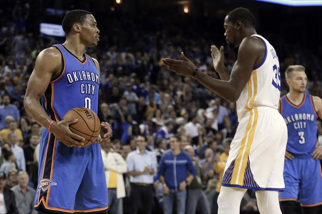 Kevin Durant done talking about Russell Westbrook, but expects emotional rematch vs OKC