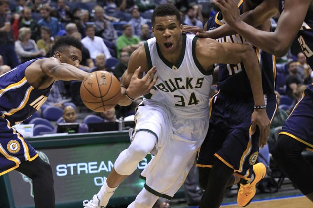 Big games from Antetokounmpo, Parker, Monroe power Milwaukee Bucks past Indiana Pacers