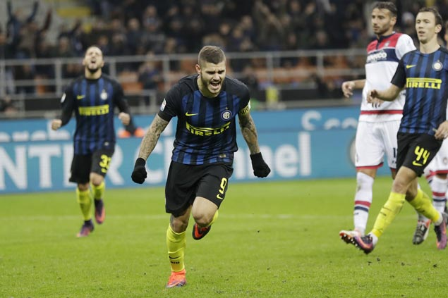 Inter Milan nets three goals in final six minutes to avoid upset against listless Crotone