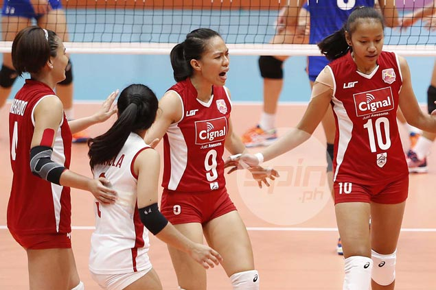 Janine Marciano plays down role in Cignal's breakthrough win, deflects credit to teammates