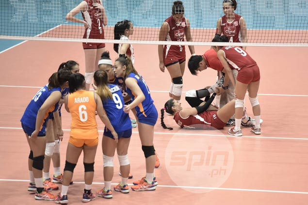Cignal import Lynda Morales brushes off ankle injury after bad fall: 'It's just a little swollen'