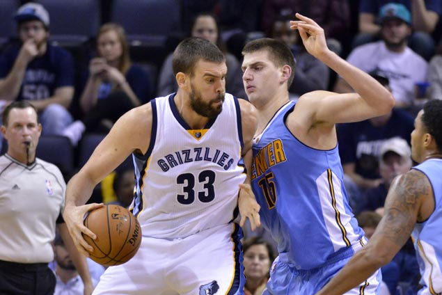 Memphis halts two-game skid as Marc Gasol beats the buzzer to lift Grizzlies over Nuggets