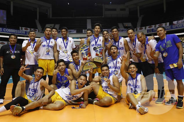 Air Force completes sweep of Cignal in Spikers Turf finals for second title of season