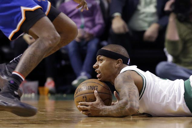 Celtics halt three-game losing run as Knicks lose Carmelo early after two technicals