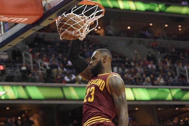 Cavaliers back on track with big victory over Wizards