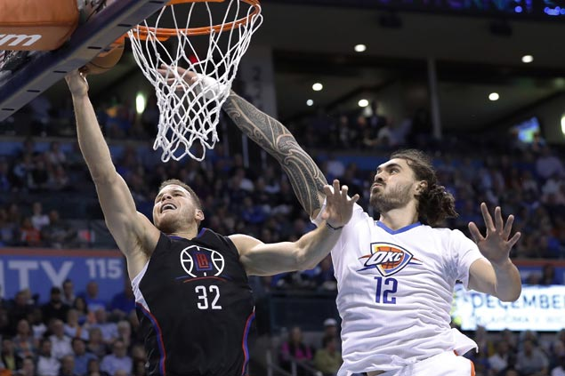 NBA-best LA Clippers survives OKC Thunder's late rally for fifth straight win
