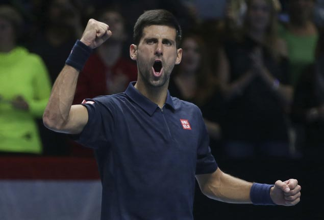 Novak Djokovic fights back from a set down to beat Dominic Thiem in opener of ATP finals