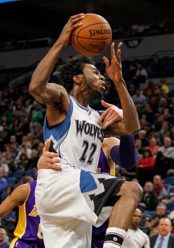 Andrew Wiggins' career-high 47 points power Wolves over Lakers in battle of young teams