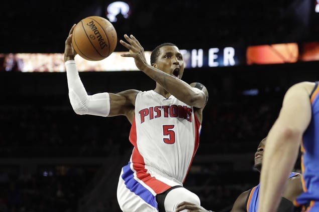 Shorthanded Pistons keep home record unblemished, send Thunder to fourth straight loss