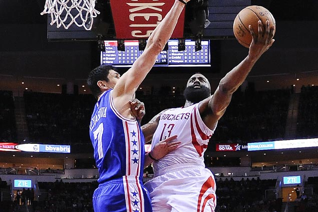 Harden rips Sixers defense early as Houston deals league-worst Philadelphia a 27-point drubbing