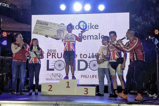 Marella Salamat, Irish Mae Wong rule respective categories in PRURide to London criterium race