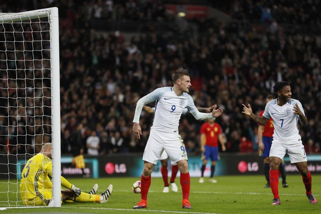 England does mannequin challenge to celebrate goal but Spain equalizes and has last laugh with locker room video
